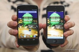 Nexus 4 vs iPhone 5